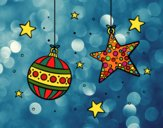 Desenho  Decorações de Natal pintado por ImShampoo