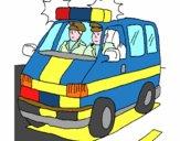 Ambulância em serviço