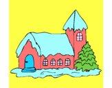 Desenho Casa pintado por jejezinha