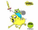 Desenho Jake e Finn para atacar pintado por iyacfox1