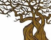 Desenho Árvore fantasmal pintado por brebeca