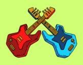 Desenho Guitarra eléctrica pintado por Lesly