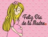 Mamã grávida no Dia da Mãe