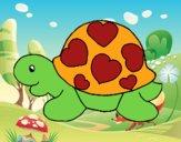 Tartaruga com corações