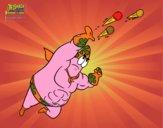 Bob Esponja - Super Maneiríssimo atirando