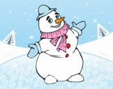 Boneco de neve de sorriso