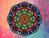 Desenho Mandala para relaxamento mental pintado por Marynigth