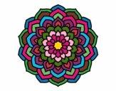 Desenho Mandala pétalas de flores pintado por HASTINGS