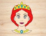 Desenho Rosto de princesa pintado por luzinda
