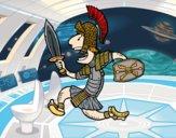 Soldado romano atacante