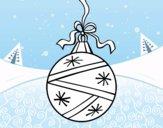 Uma bola de Natal