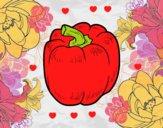 Desenho O pimento vermelho pintado por aoze