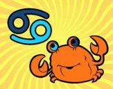 Desenho Horóscopo Caranguejo pintado por luism
