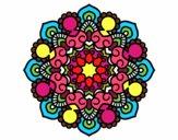 Desenho Mandala reunião pintado por mahstar
