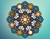 Desenho Mandala reunião pintado por Arteando