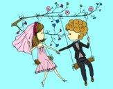 Casado em um balanço