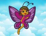 Desenho Fada borboleta contente pintado por florbelinh