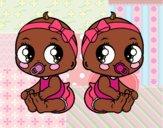 Desenho Gêmeos fêmea pintado por florbelinh