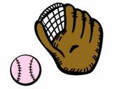 Luva de basebol e bola