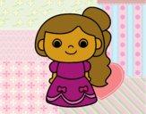 Desenho Princesa alegre pintado por florbelinh
