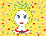 Desenho Rosto de princesa pintado por Thayla2010