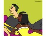 Desenho César e Cleopatra pintado por danielt