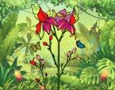 Desenho Flor de Iris pintado por jmario