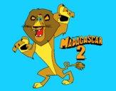 Desenho Madagascar 2 Alex pintado por eduardobar