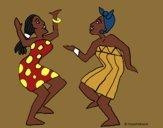 Desenho Mulheres a dançar pintado por danielt