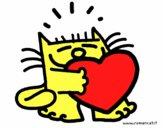 Gato e coração