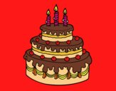 Desenho Torta de Aniversário pintado por gegepipoca