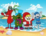 Papai Noel e seus amigos
