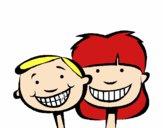 Crianças com dentes sãos