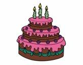 Desenho Torta de Aniversário pintado por lywya12