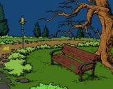 Desenho Paisagem da parque pintado por Missim