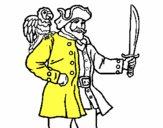Pirata com um papagaio