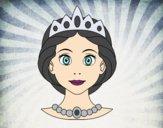 Desenho Rosto de princesa pintado por Missim