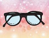 óculos de massa redondos