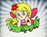Desenho Fada bonita pintado por Taiza