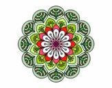 Mandala flor e folhas