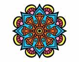 Desenho Mandala mundo árabe pintado por IsabelDiva