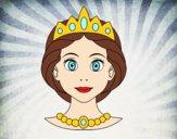 Desenho Rosto de princesa pintado por Taiza