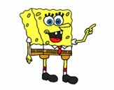 Desenho SpongeBob 5 pintado por Jujuli