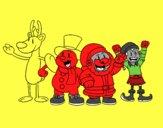 Desenho Papai Noel e seus amigos pintado por IsabelDiva