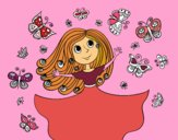 Desenho Princesa borboletas pintado por Clarice1