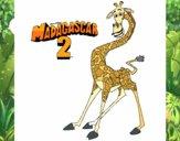 Desenho Madagascar 2 Melman pintado por AndressaBR