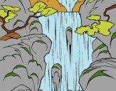 Desenho Cachoeira pintado por Dalvamgcs