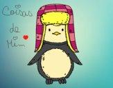 Desenho Pinguim com chapéu pintado por CoisasDeMi
