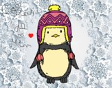 Desenho Pinguim do bebê com chapéu pintado por CoisasDeMi
