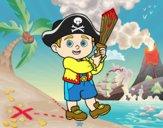 Desenho Traje do pirata pintado por Isadoran